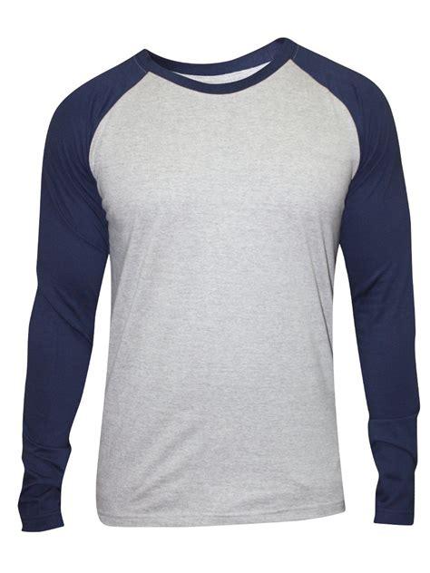 Neck Sleeve T Shirt nologo grey navy neck sleeve t shirt nologo