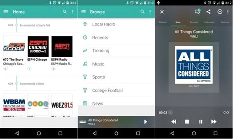tunein radio android update brings material design and chromecast