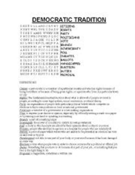 worksheets democracy vocabulary