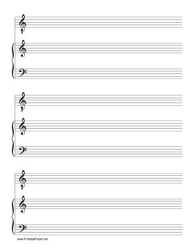 printable manuscript paper piano this manuscript paper includes three systems consisting of