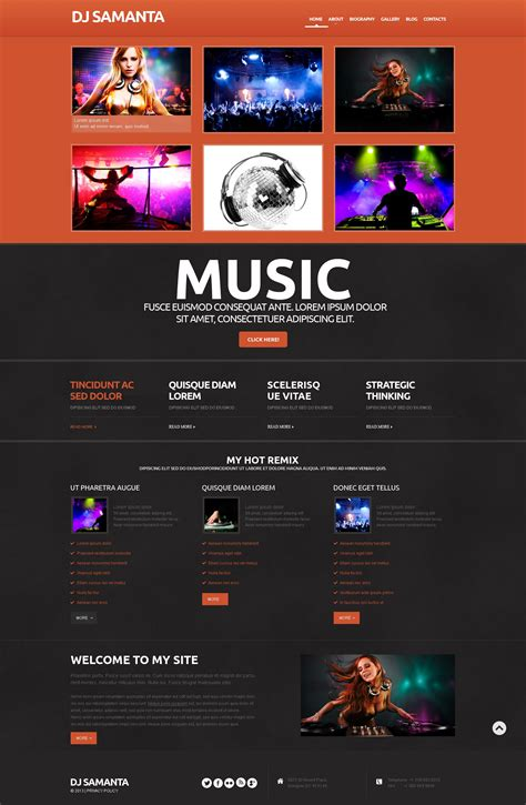 best responsive and easy to use music themes 2016 free