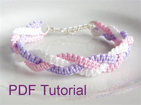 Macrame Square Knot Tutorial - pdf tutorial braided square knot macrame bracelet pattern