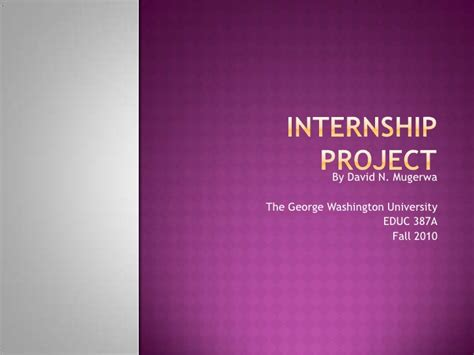 Ppt Topics For Mba Students by Internship Project Power Point Presentation