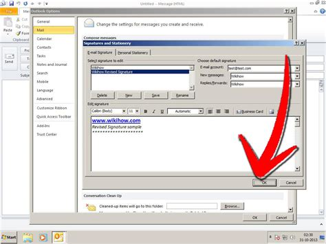 tutorial html signature how to edit signature in outlook xp updates