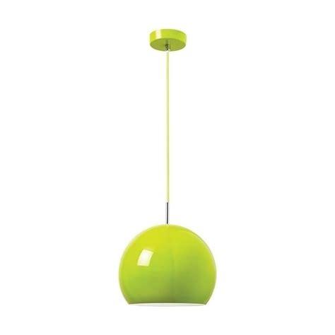 endon alzira gloss lime green 1lt pendant light at leader