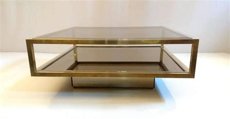 Cocktail Table In Brass By Nazaret Italy For Sale At 1stdibs Exclusive Coffee Tables