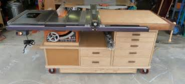phil s tablesaw work station the wood whisperer