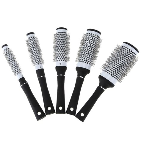 hair brushes hair brush tools accessories 5 sizes black durable ceramic ionic round comb barber hair