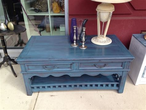 gorgeous shabby chic 2 tier coffee table with two drawers