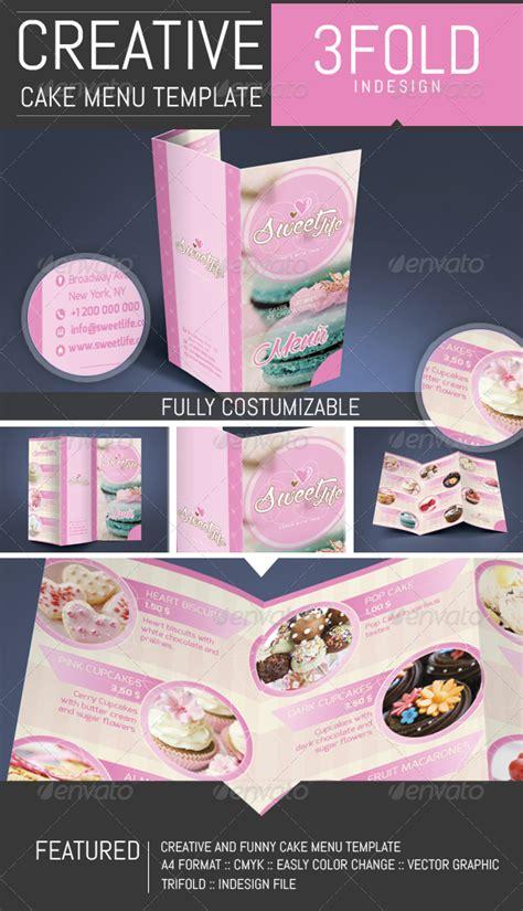 cupcake menu card template cake cupcake pastry menu template by dogmadesign