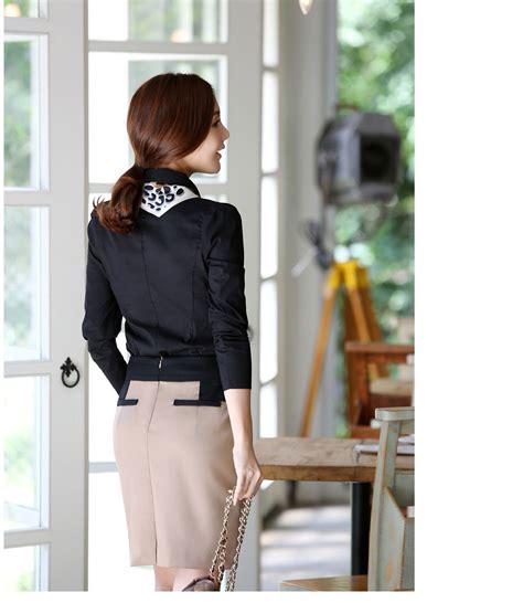 Ritz Blouse Kemeja Kantor Polos kemeja kerja wanita import hitam panjang model terbaru