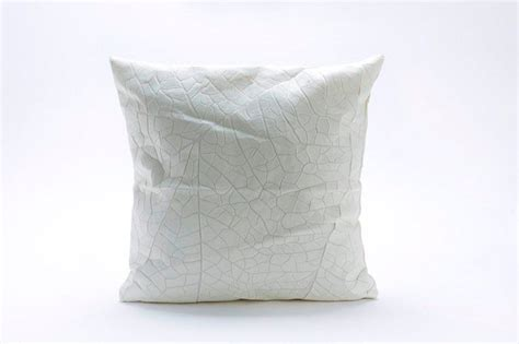 Milk Pillows by Decorative Textured Leaf Vein Pillows By Barr