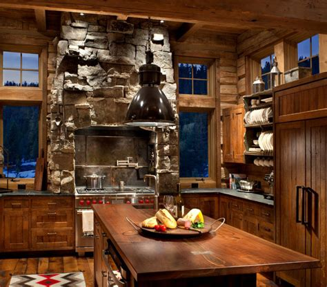 lodge kitchen rustic kitchens design ideas tips inspiration