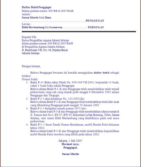 contoh surat kuasa gugatan cerai wisata dan info sumbar