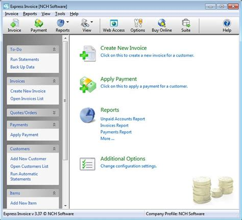 express invoice invoicing software free freeware version 4