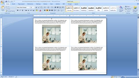 How To Make Four Postcards On The Same Sheet In Word Burris Computer Forms Ms Word Postcard Template
