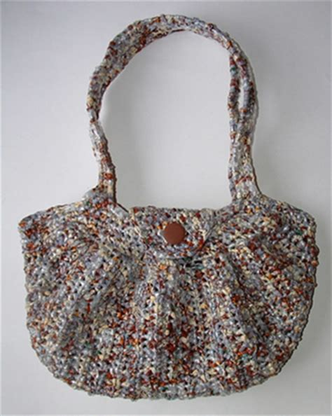 crochet pattern for plarn bag miss julia s patterns free patterns with plarn recycled