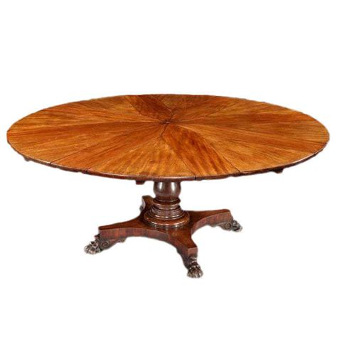 Circular Expanding Table by Circular Mahogany Expanding Jupe Table