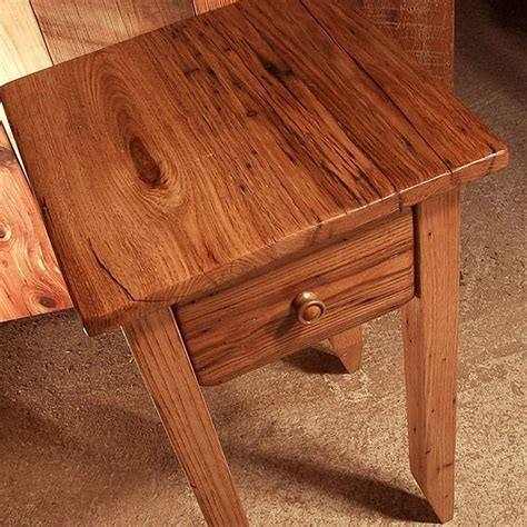 wormy chestnut end tables buy a crafted wormy chestnut reclaimed wood end table