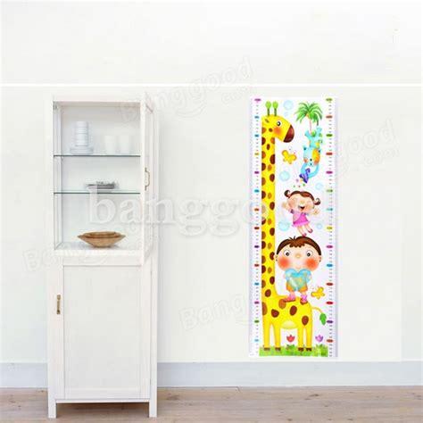Giraffe Ruler Wall Sticker giraffe height measuring room ruler self diy adhesive
