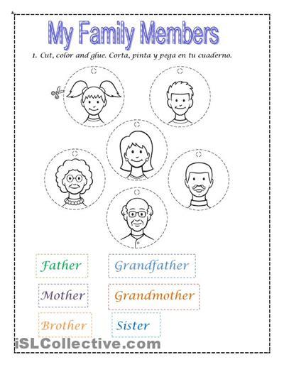 kindergarten activities on family my family worksheets for kindergarten 328 free family