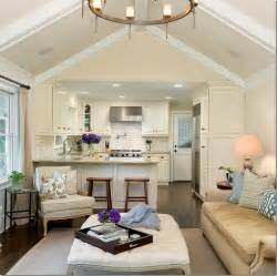 in law suite ideas family room kitchen open floor plan white kitchen