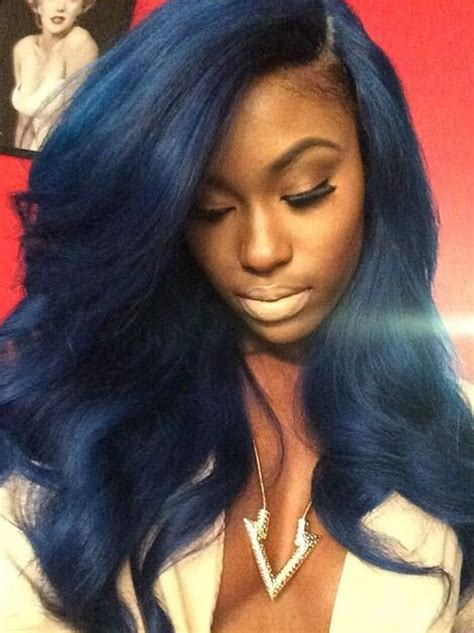 best wayto have a weave sown in for short hair 17 best ideas about blue weave hair on pinterest red