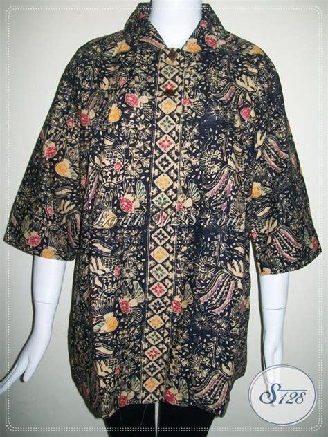 Kain Batik Katun Tulis 118 atasan batik wanita pejabat ukuran besar ld 118cm warna