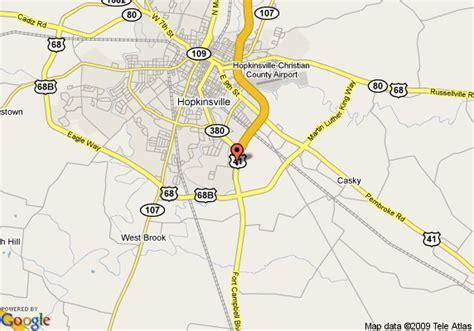 kentucky map hopkinsville map of best western hopkinsville hopkinsville