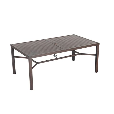 Rectangle Patio Table Hton Bay Millstone Rectangular Patio Dining Table Fta70036d The Home Depot
