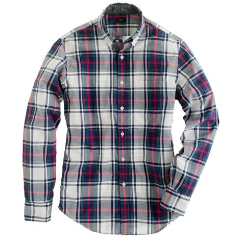 Shirt Tartan j crew slim tartan shirt in blue in multicolor for