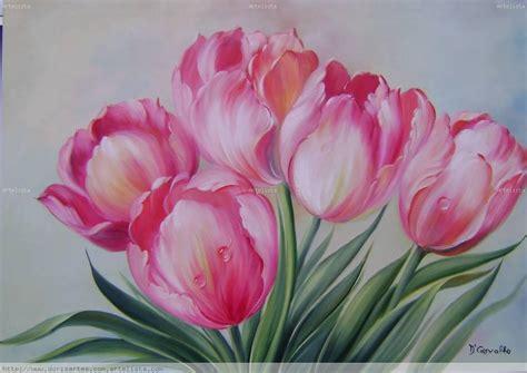 cuadros tulipanes pinturas al oleo de tulipanes imagui
