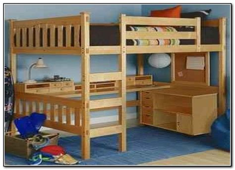 bunk bed with desk plans queen bunk bed with desk underneath beds home design