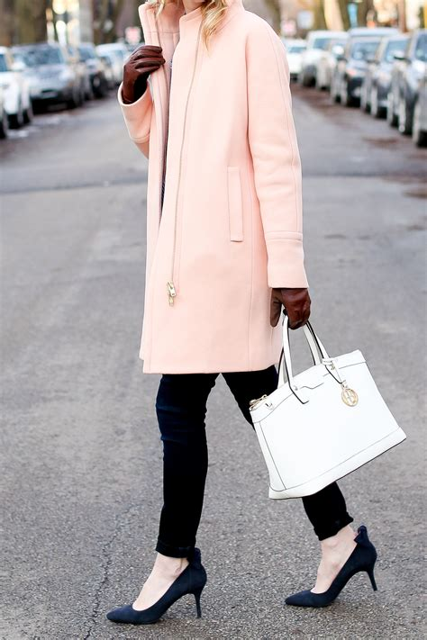 light pink cocoon coat the sweetest light pink coats in the city