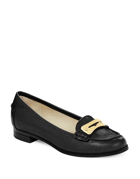 michael kors black loafers michael michael kors tierlyn loafers in black lyst