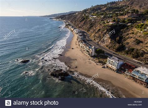Publishers Clearing House En Espanol - aerial of beachfront homes pacific coast highway in malibu stock photo royalty free