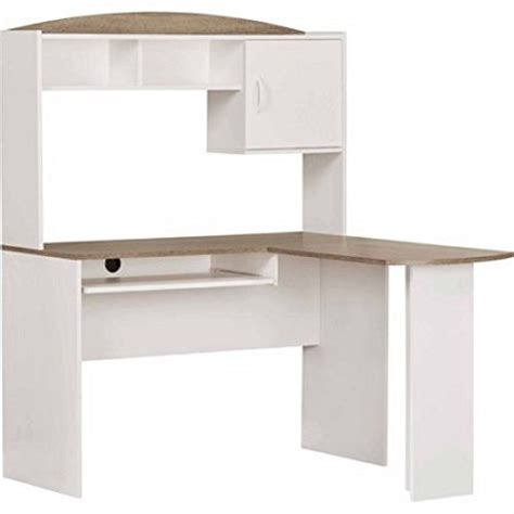 mainstays l shaped desk with hutch multiple finishes mainstays l shaped desk with hutch multiple finishes