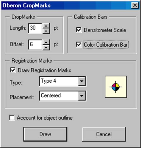 corel draw x4 vba bar cropmarks macro