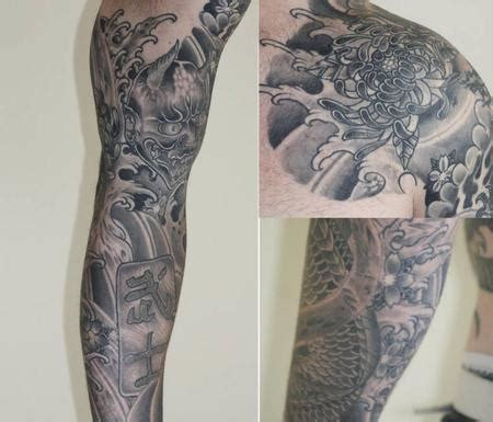 tattoo black and grey japanese japanese black and grey sleeve by carl sebastian tattoonow