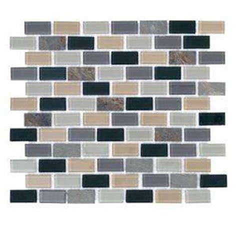 jeffrey court 12 in x 12 in rocky canyon glass mosaic