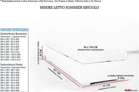 quanto misura un letto matrimoniale letto singolo con contenitore senza testata prezzi e foto