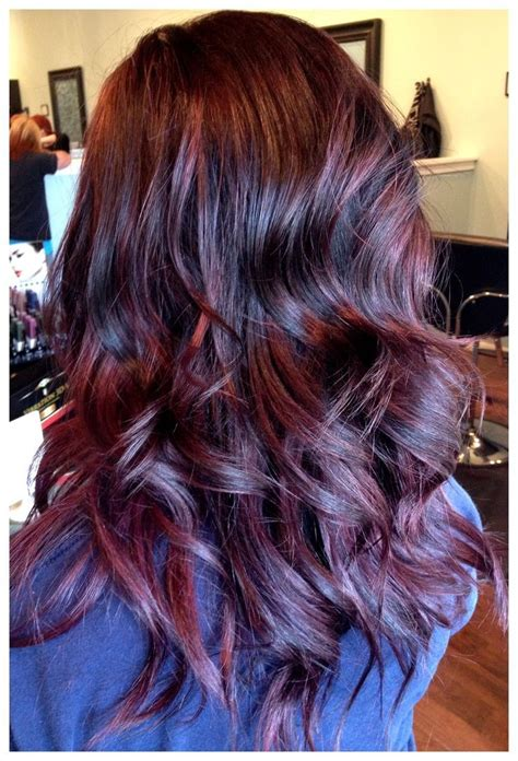 add color add 2013 fall hair color lowlights warm plum and cherry