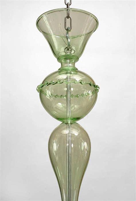 Green Glass Chandelier 1960s Italian Green Murano Glass Chandelier At 1stdibs