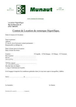 contrat de location salle des fetes