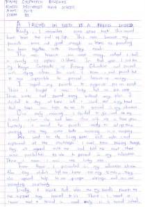 Friendship Essay by Goff