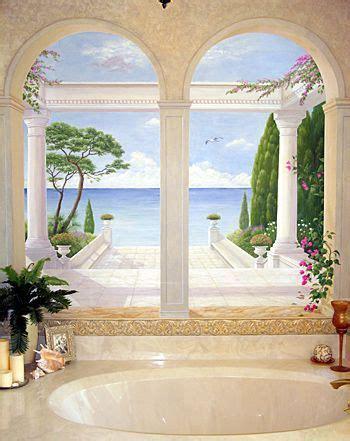 Salle De Bains 3d 1813 by Bathroom Trompe L Oeil Mural Mural Idea In Vero Fl