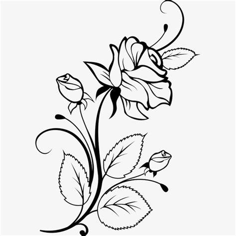 desenho flores desenho de flores preta preto flores flores png imagem