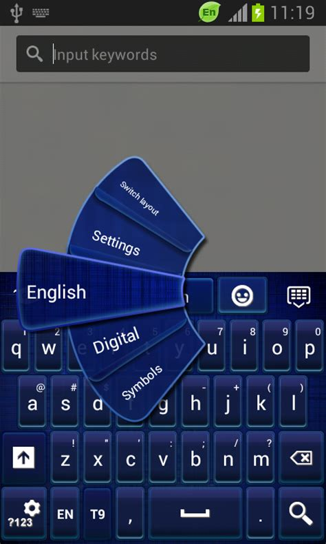 go keyboard themes not working go keyboard dark blue theme free android app android
