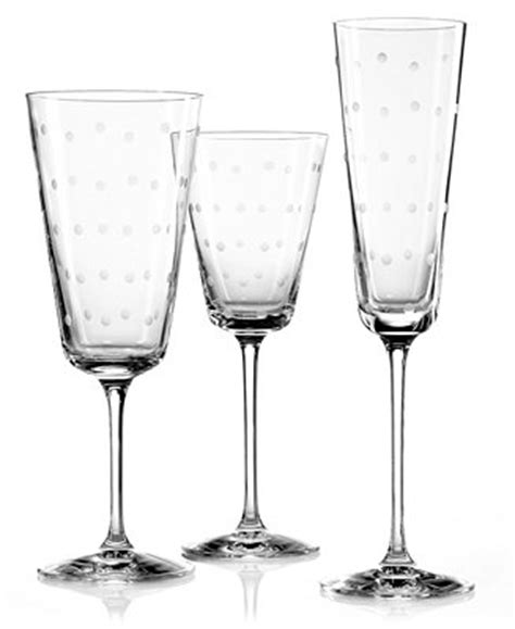 kate spade barware kate spade new york larabee dot stemware collection