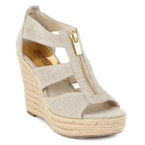 michael kors shoes michael kors michael damita platform wedge sandals in